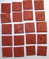 20 Deep Etched Rubber StampTextures - Use to Design Paper, Fabric, Art Clay, PMC