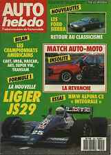 AUTO HEBDO n°559 du 4 Février 1987 ALPINA C2 INTEGRALE ALPINA B7