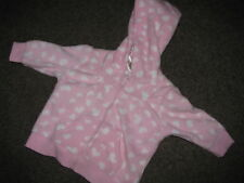 BNWT BABY GIRLS PINK FLEECE JACKET  HOODIE JUMPER SIZE 0