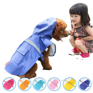 Pet Clothes Dog Raincoat Waterproof Reflective Rain Jacket For Rainy Day Outd TR