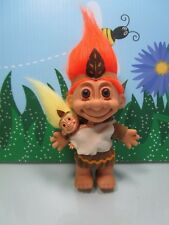 """NATIVE AMERICAN INDIAN MOTHER w/BABY - 5"""" Russ Troll Doll - NEW IN ORIGINAL BAG"""