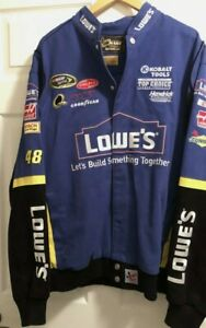 Jimmie Johnson Nascar Racing Jacket RN93965 Chase Authentics Drivers Line Lowes