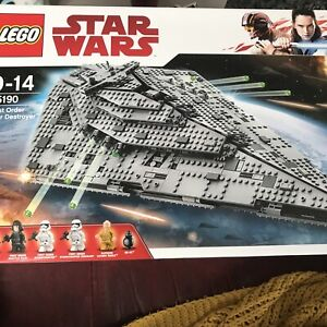 Lego Star Wars 75190, First Order Star Destroyer retired set - New