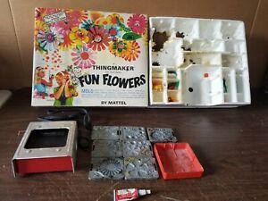 Vintage MATTEL FUN FLOWERS THINGMAKER CREEPY CRAWLERS With Box