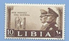 Italy Nazi Germany Axis 1941 Adolf Hitler Mussolini Libya 10 stamp MNH WW2ERA
