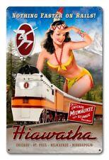 Hiawatha Train Pin Up Metal Sign