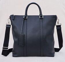 Prada Men's Smooth Calf Skin Leather Tote, Black, MSRP $2,120