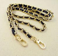 Chain & Leather Shoulder Crossbody Bag/Handbag/Purse Strap Replacement DIY NEW