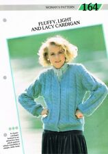 Knitting Pattern de Magazine. MOELLEUX & Lacy Cardigan. Creative Tricot Femme 164