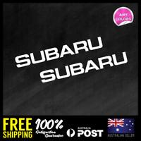 2x SUBARU FRONT LIP WRX  STICKER DECAL CAR RACING JDM 280x36mm
