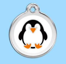 Penguin Engraved Dog / Cat ID identity Tags / discs by Red Dingo (1PE)