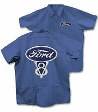 Ford V8 Work Shirt - 3XL - Royal Blue LAST ONE! We'll Ship It FREE To The USA!