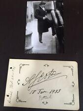 Antonio Scotti - 1933 Autograph D.1936 / UACC Reg Dealer #RD092 ITALIAN BARITONE