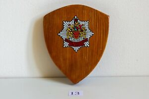 GREATER MANCHESTER FIRE SERVICE FIRE SERVICE WOODEN PLAQUE 102mm X 85mm