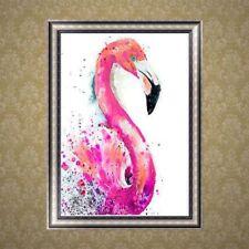5D DIY Diamond Painting Flamingo Bird Embroidery Cross Crafts Stitch Home Decor