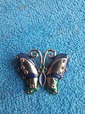 Vintage Broche Papillon doré Neuf ancien stock