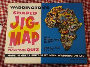 Waddington's Shaped Jig-Map with Place-name Quiz *Africa* Design No 422