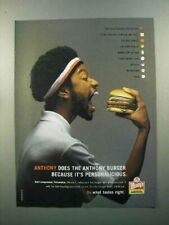 2005 Wendy's Hamburger Ad - Anthony Personalicious