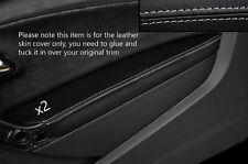 GREY Stitch 2x Porta BRACCIOLO PELLE COPERTURA Adatta per VW Polo MK8 09-15 3 PORTE
