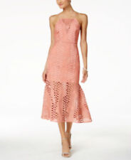 Endless Rose Strappy-Back Halter MERMAID LACE DRESS AZELEA  PINK SMALL