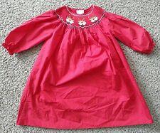 Rosalina Collections Rojo FRUNCIDO Reno Vacaciones Navidad Vestido 5