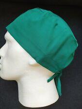GreenTieback Scrub//theatre cap//hat with sweatband Doctors//Nurses//Vets//Chefs//odp