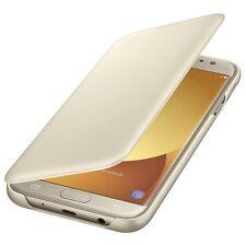 Cover Flip Originale Samsung EF-WJ730 GOLD per Galaxy J7 2017 SM-J730