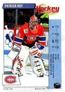 1992-93 Panini Stickers French #147 Patrick Roy