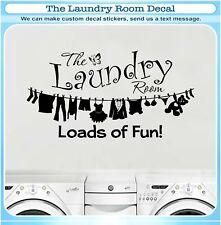 Laundry Room Loads of Fun Bra Dress Vinyl Wall Quote Sticker Decor Art Decal 164