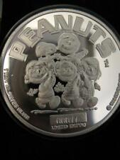 1-OZ.999 SILVER PEANUTS GANG CHARLIE BROWN, SNOOPY, LUCY POKER GARD COIN+GOLD