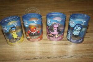 Disney Pixar movie inside out mini PVC figures, Joy, Sadness, Anger and Bing