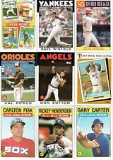 1986 Topps and Topps Traded Baseball 227-Card Lot