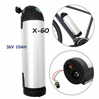 36V 10Ah Silver Bottle Lithium Battery Waterproof E-bike Electric Bicycle 350w