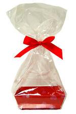 10 x MINI VALENTINE'S DAY Gift Kits - Red Hearts Cardboard Tray, Cello Bag & Bow