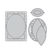 Spellbinders Designer Series Die ~ BELLA ROSE LATTICE LAYERING FRAME LG ~ S6-129