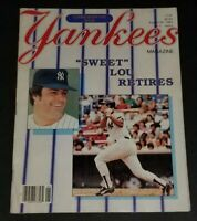 "1984 Yankees Magazine ""Sweet Lou Retires"" Commemorative Issue"