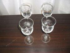 Vintage Crystal wine glasses with twisted stem x 4