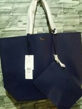 Lacoste large shopping bag open tote navy blue