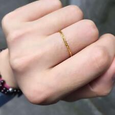 Pure 24K Yellow Gold Ring Women's Wheat Chain Link Ring US Size  8  0.8-1 grams