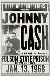 JOHNNY CASH - FOLSOM MUSIC POSTER - 24x36 - 54234