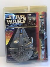 Star Wars Collecors Timepiece Boba Fett Watch With Millenium Falcon Case 1997