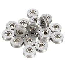 20pcs 3x12x4mm Deep V Groove Pulley Rail Ball Bearing Metal Sealed Guide Wire Pu