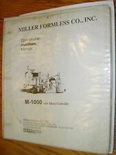 Miller M-1000 OPERATION MAINTENANCE MANUAL CURB GUTTER CONCRETE PAVER GUIDE BOOK