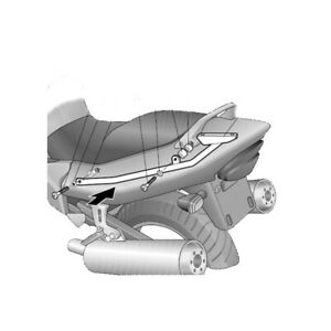 Shad topcarrier brackets Honda CBR1100XX Balckbird