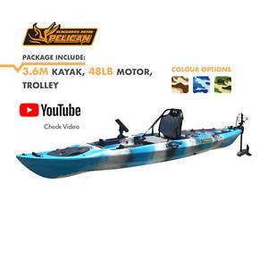 BLACKHAWK 48LB Motorized Pelican 3.6M Fishing Kayak Seat Motor Package