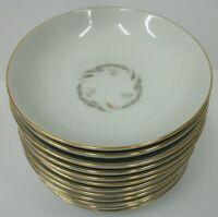 "12 Vintage Kaysons Fine China Golden Fantasy 5.5"" Soup Berry Dessert Bowls Japan"