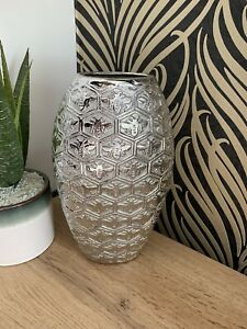 Silver Bee Ceramic Vase Home Decoration Gift