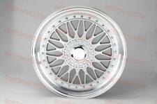 "19"" STAGGERED SILVER/SILV RS STYLE RIMS WHEELS FITS MERCEDES BENZ 5X112 S CLASS"