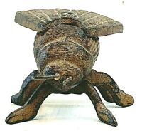 Metal Fly Paperweight Figurine Insect Statue Vintage Patina Solid