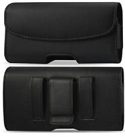 Leather Horizontal Belt Clip Case Pouch Cover Holster for Iphone Samsung Phones